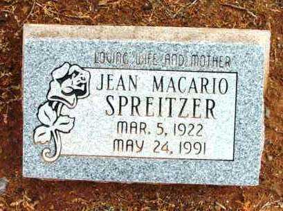 SPRITZER, JEAN - Yavapai County, Arizona | JEAN SPRITZER - Arizona Gravestone Photos