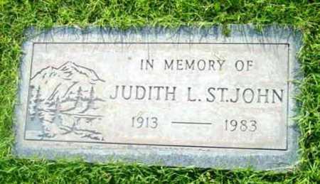 ST. JOHN, JUDITH L. - Yavapai County, Arizona   JUDITH L. ST. JOHN - Arizona Gravestone Photos