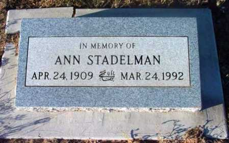 STADELMAN, ANN - Yavapai County, Arizona | ANN STADELMAN - Arizona Gravestone Photos