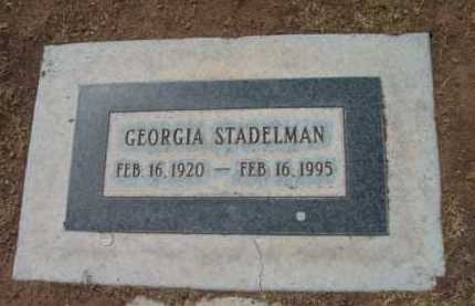 STADELMAN, GEORGIA - Yavapai County, Arizona | GEORGIA STADELMAN - Arizona Gravestone Photos
