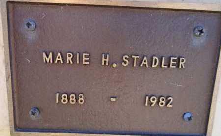 STADLER, MARIE H. - Yavapai County, Arizona   MARIE H. STADLER - Arizona Gravestone Photos