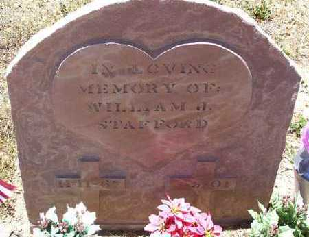STAFFORD, WILLIAM J. - Yavapai County, Arizona | WILLIAM J. STAFFORD - Arizona Gravestone Photos