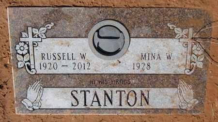 STANTON, RUSSELL W. - Yavapai County, Arizona | RUSSELL W. STANTON - Arizona Gravestone Photos
