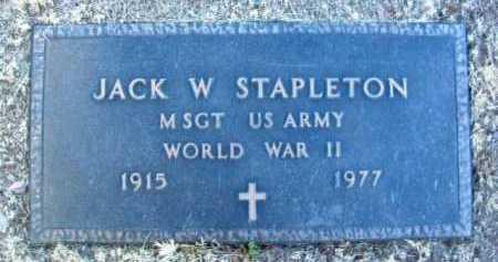 STAPLETON, JACK W. - Yavapai County, Arizona | JACK W. STAPLETON - Arizona Gravestone Photos