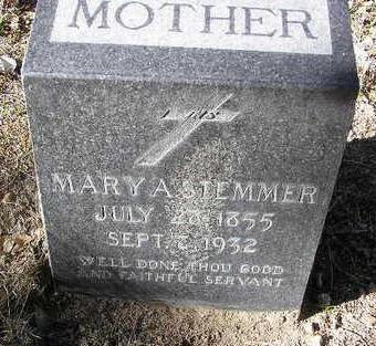 STEMMER, MARY ANN - Yavapai County, Arizona | MARY ANN STEMMER - Arizona Gravestone Photos