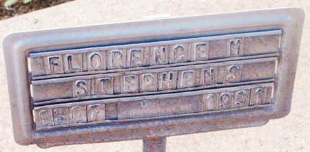 STEPHENS, FLORENCE M. - Yavapai County, Arizona | FLORENCE M. STEPHENS - Arizona Gravestone Photos