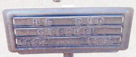 STEPHENS, HARRY E. KARL (BUD), SR. - Yavapai County, Arizona   HARRY E. KARL (BUD), SR. STEPHENS - Arizona Gravestone Photos