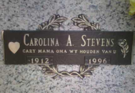 STEVENS, CAROLINA A. - Yavapai County, Arizona | CAROLINA A. STEVENS - Arizona Gravestone Photos