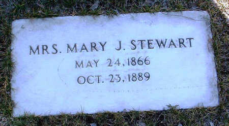 STEWART, MARY J.  (MRS.) - Yavapai County, Arizona | MARY J.  (MRS.) STEWART - Arizona Gravestone Photos