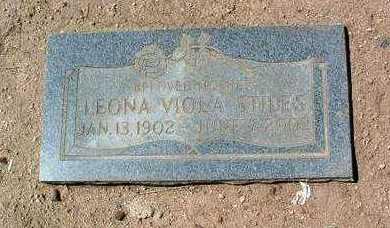 STILES, LEONA VIOLA - Yavapai County, Arizona   LEONA VIOLA STILES - Arizona Gravestone Photos