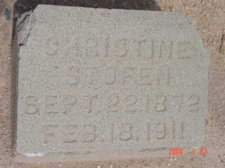 STOFEN, CHRISTINE - Yavapai County, Arizona | CHRISTINE STOFEN - Arizona Gravestone Photos