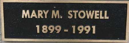 STOWELL, MARY M. - Yavapai County, Arizona | MARY M. STOWELL - Arizona Gravestone Photos