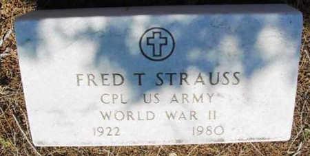 STRAUSS, FRED T. - Yavapai County, Arizona | FRED T. STRAUSS - Arizona Gravestone Photos