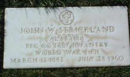 STRICKLAND, JOHN W., JR. - Yavapai County, Arizona | JOHN W., JR. STRICKLAND - Arizona Gravestone Photos