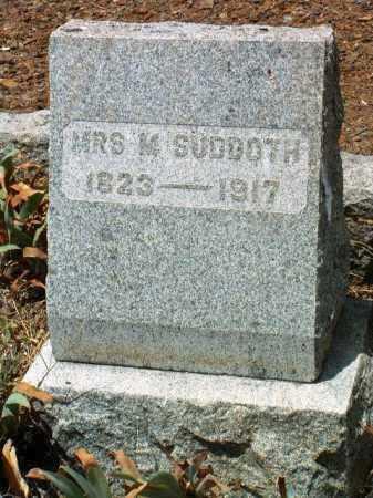MCCRORY SUDDOTH, M. - Yavapai County, Arizona | M. MCCRORY SUDDOTH - Arizona Gravestone Photos