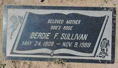 SULLIVAN, BERDIE FRANCES - Yavapai County, Arizona   BERDIE FRANCES SULLIVAN - Arizona Gravestone Photos
