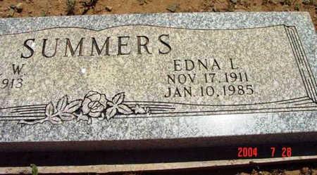 SUMMERS, EDNA LOUISE - Yavapai County, Arizona   EDNA LOUISE SUMMERS - Arizona Gravestone Photos