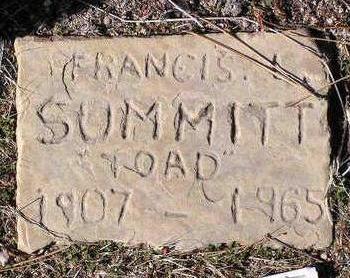 SUMMITT, FRANCIS  L. (TOAD) - Yavapai County, Arizona | FRANCIS  L. (TOAD) SUMMITT - Arizona Gravestone Photos