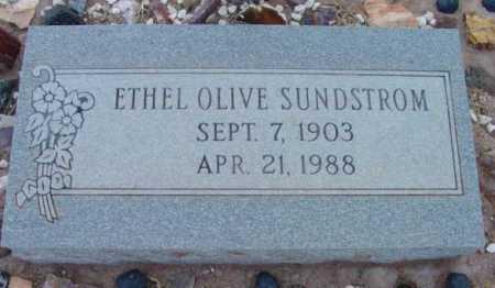 SUNDSTROM, ETHEL OLIVE - Yavapai County, Arizona | ETHEL OLIVE SUNDSTROM - Arizona Gravestone Photos