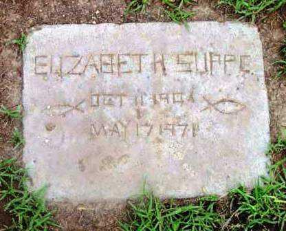 SUPPE, ELIZABETH - Yavapai County, Arizona   ELIZABETH SUPPE - Arizona Gravestone Photos