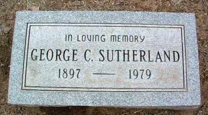 SUTHERLAND, GEORGE C. - Yavapai County, Arizona | GEORGE C. SUTHERLAND - Arizona Gravestone Photos