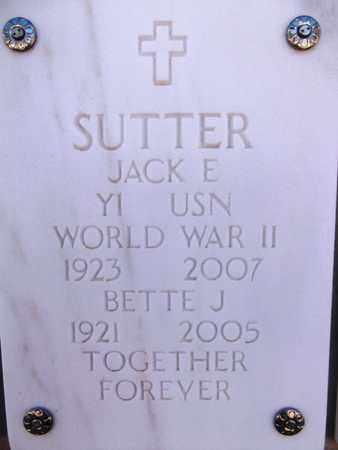 SUTTER, JACK EUGENE - Yavapai County, Arizona | JACK EUGENE SUTTER - Arizona Gravestone Photos