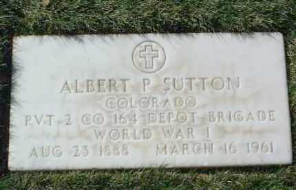 SUTTON, ALBERT PIERCE - Yavapai County, Arizona   ALBERT PIERCE SUTTON - Arizona Gravestone Photos