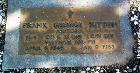 SUTTON, FRANK GEORGE - Yavapai County, Arizona | FRANK GEORGE SUTTON - Arizona Gravestone Photos