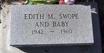 SETTLE SWOPE, EDITH MARIE - Yavapai County, Arizona   EDITH MARIE SETTLE SWOPE - Arizona Gravestone Photos