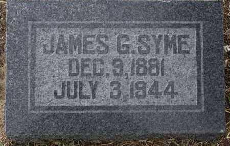 SYME, JAMES GRAHAM - Yavapai County, Arizona | JAMES GRAHAM SYME - Arizona Gravestone Photos