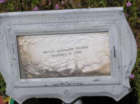 TALBERT, BAILEY ALEXANDER - Yavapai County, Arizona   BAILEY ALEXANDER TALBERT - Arizona Gravestone Photos
