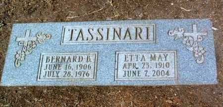 TASSINARI, ETTA MAY - Yavapai County, Arizona | ETTA MAY TASSINARI - Arizona Gravestone Photos