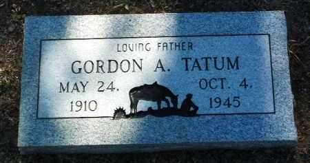 TATUM, GORDON ADOLPHUS - Yavapai County, Arizona   GORDON ADOLPHUS TATUM - Arizona Gravestone Photos