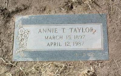 TAYLOR, ANNIE TILLITHA - Yavapai County, Arizona   ANNIE TILLITHA TAYLOR - Arizona Gravestone Photos