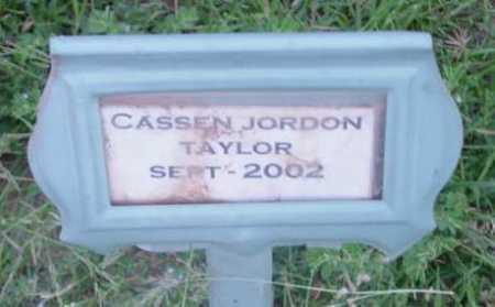 TAYLOR, CASSEN JORDON - Yavapai County, Arizona   CASSEN JORDON TAYLOR - Arizona Gravestone Photos
