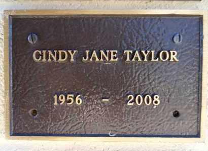 TAYLOR, CINDY JANE - Yavapai County, Arizona | CINDY JANE TAYLOR - Arizona Gravestone Photos