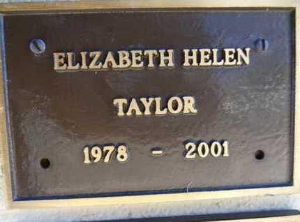 TAYLOR, ELIZABETH HELEN - Yavapai County, Arizona | ELIZABETH HELEN TAYLOR - Arizona Gravestone Photos