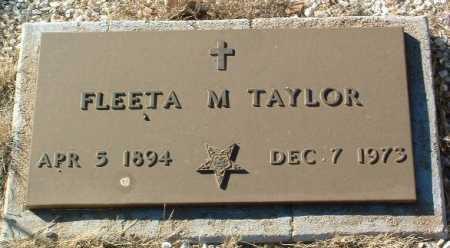 TAYLOR, FLEETA M. - Yavapai County, Arizona | FLEETA M. TAYLOR - Arizona Gravestone Photos