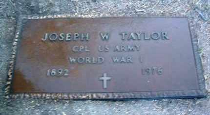 TAYLOR, JOSEPH W. - Yavapai County, Arizona   JOSEPH W. TAYLOR - Arizona Gravestone Photos