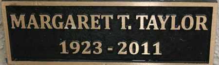 TAYLOR, MARGARET T. - Yavapai County, Arizona | MARGARET T. TAYLOR - Arizona Gravestone Photos