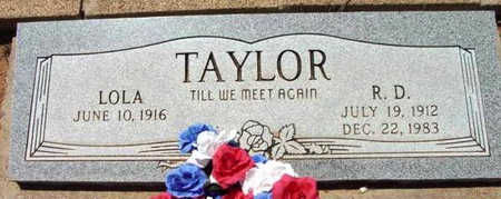 TAYLOR, R. D. - Yavapai County, Arizona | R. D. TAYLOR - Arizona Gravestone Photos