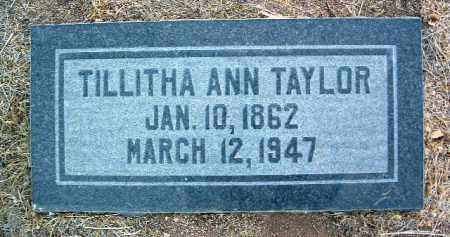 TAYLOR, TILLITHA ANN - Yavapai County, Arizona | TILLITHA ANN TAYLOR - Arizona Gravestone Photos