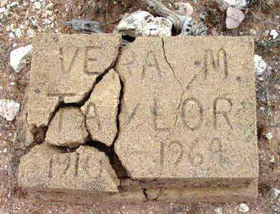 TAYLOR, VERA M. - Yavapai County, Arizona | VERA M. TAYLOR - Arizona Gravestone Photos