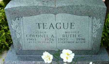 TEAGUE, COLONEL ANDREW - Yavapai County, Arizona | COLONEL ANDREW TEAGUE - Arizona Gravestone Photos