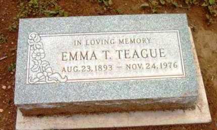 TEAGUE, EMMA TULLOCK - Yavapai County, Arizona | EMMA TULLOCK TEAGUE - Arizona Gravestone Photos