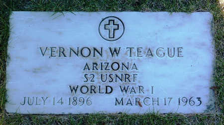 TEAGUE, VERNON W. - Yavapai County, Arizona | VERNON W. TEAGUE - Arizona Gravestone Photos