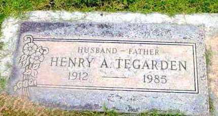 TEGARDEN, HENRY A. - Yavapai County, Arizona | HENRY A. TEGARDEN - Arizona Gravestone Photos