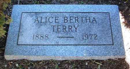 TERRY, ALICE BERTHA - Yavapai County, Arizona | ALICE BERTHA TERRY - Arizona Gravestone Photos