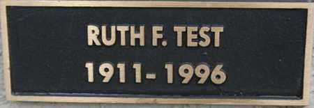 TEST, RUTH F. - Yavapai County, Arizona | RUTH F. TEST - Arizona Gravestone Photos