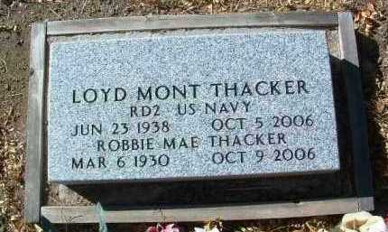 THACKER, LOYD MONT - Yavapai County, Arizona | LOYD MONT THACKER - Arizona Gravestone Photos